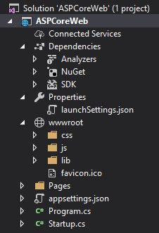 ASP .NET Core Tutorial - Project Structure